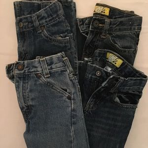 4 Pair Boy's Size 5 Jean Lot Levi's Old Navy GUC